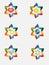 Stock Image : Abstract David star from abstract hands,jewish symbols.