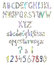 Stock Image : Abstract doodle font