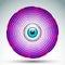 Stock Image : Abstract geometrical eye icon