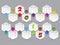 Stock Image : Abstract hexagon shaped 2015 calendar