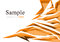 Stock Image : Abstract orange polygon