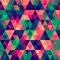 Stock Image : Abstract Pixel Triangle Pattern
