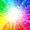 Stock Image : Abstract rainbow colored star background