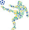Stock Image : Abstract soccer player