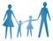 Stock Image :  Abstract symbool van gelukkige familie
