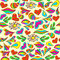 Stock Image : Abstract vivid seamless summer pattern painted by hand.