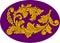 Stock Image : Acanthus classic floral decor