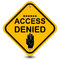 Stock Image : Access denied sign