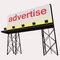 Stock Image : Advertise billboard clear panel construction