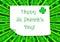 Stock Image : Affiche du jour de St Patrick heureux
