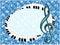 Stock Image :  Affiche musicale avec la clef triple et la touche