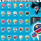 Stock Image : Africa Pointer Flag Icons with african Map set2