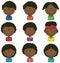 Stock Image : African-American Boys Avatar