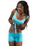 Stock Image : African American fitness woman with bottled water