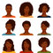 Stock Image : African American women with various hairstyle