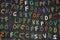 Stock Image : African art key ring alphabet
