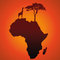 Stock Image : African Safari Map Silhouette Vector Background