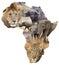 Stock Image : African wildlife background