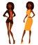 Stock Image :  Afrikaanse Amerikaanse vrouwen met natuurlijk krullend haar