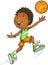 Stock Image : Afro American Basketball Player