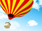 Stock Image : Air balloon in clouds