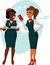 Stock Image : Air hostesses ready to fly