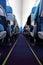 Stock Image : Airplane passenger cabin