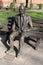 Stock Image : Alan Turing Statue Sackville Gardens Manchester