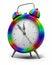 Stock Image : Alarm Clock rainbow