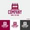 Stock Image : Alcoholic beverages logo