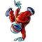 Stock Image : Alien Breakdancing