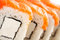 Stock Image :  Alimento tradicional del sushi japonés Rollos frescos de Philadelphia