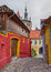 Stock Image : Alley in Sighisoara, Romania.