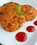 Stock Image : Aloo tikki chaat Indian street food