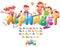 Stock Image : Alphabet with children
