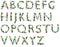 Stock Image : Alphabet of gems