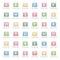 Stock Image : Alphabet icons