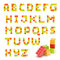 Stock Image : Alphabet set made of toy blocks isolated