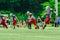 Stock Image :  Amerikaanse voetbalsters