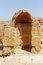 Stock Image : Ancient arched niche in Mamshit excavations in Israel