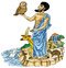 Stock Image : Ancient Greek with sacred animals