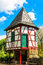 Stock Image : Ancient small customs tower on the banks of Main River in Hanau-Steinheim, Germany