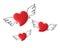 Stock Image : Angel hearts on isolated background