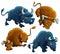Stock Image : Angry Bulls