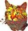 Stock Image :  Animales pintados