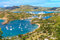 Stock Image : Antigua Bay Aerial View, Falmouth Bay, English Harbour, Antigua
