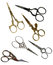 Stock Image : Antique scissors with clipping paths. Collection