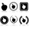 Stock Image : Apple emblems