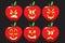 Stock Image : Apple Lantern Icons