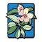 Stock Image : Apple tree clip art blue